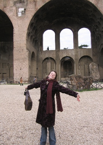 me in front of arch in rome