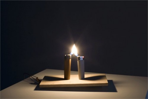 Ariel Schlesinger, Untitled (Lighters), 2007