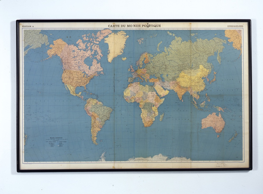 Carte du Monde Poétique«, 1968 by Marcel Broodthaers