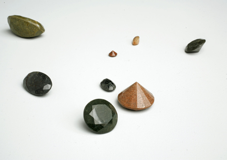 »Berliner Bordsteinjuwelen«, 2007, cut and polished found stones. By Alicja Kwade