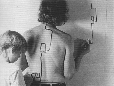 Dennis Oppenheim Two Stage Transfer Drawing Dennis Oppenheim 'two Stage