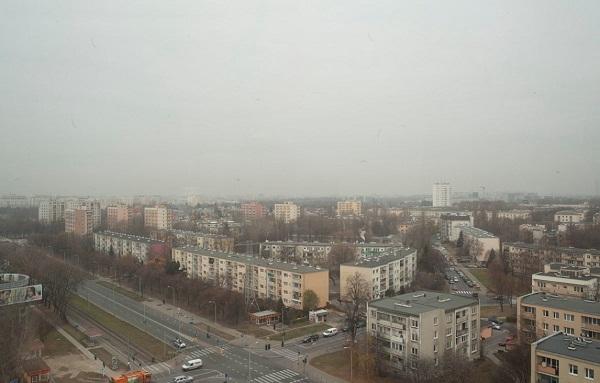 Widok z okna prezesa Zarzadu Telewizji Polskiej S.A. Juliusza Brauna
