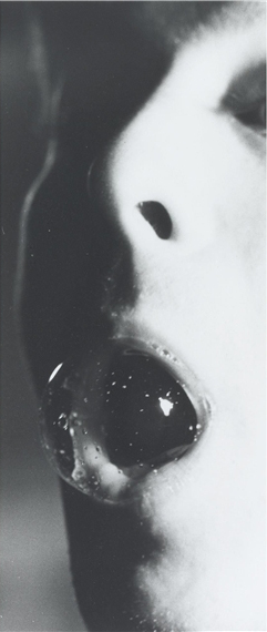 Tom Friedman Untitled A Photograph of the Artist Blowing a Spit Bubble