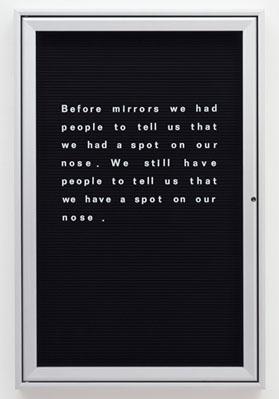 word vitrine before mirrors we had people 2002 huws