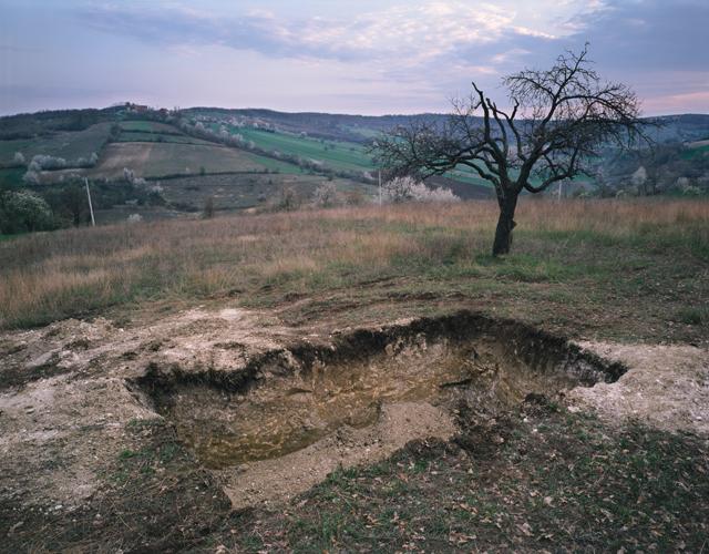 Petrit Halilaj  Kosterc (CH), 2011  Soil, grass, metal container,photo-of-kosterrc hill