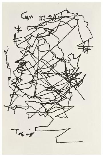 Jorge Luis Borges-Selfportrait after going blind