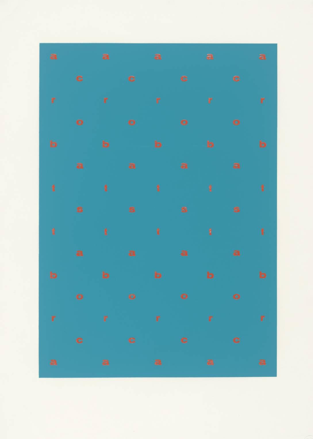 Acrobats 1966 by Ian Hamilton Finlay