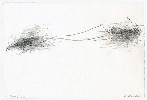William Anastasi, 'Subway Drawing (V. Dwan)', 1968, pencil on paper, 19 x 28,5 cm