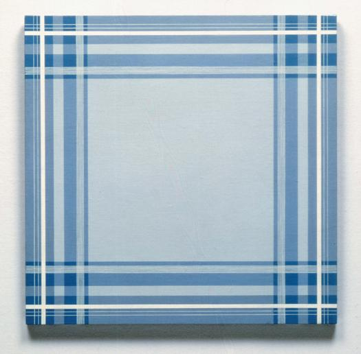 Daan van Golden . Composition with blue square-1964