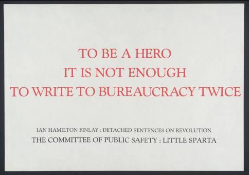 [no title] 1983 by Ian Hamilton Finlay 1925-2006