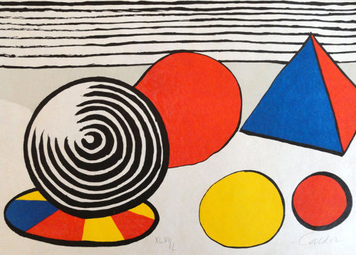 Alexander_Calder_From_Le_Memoire_Elementaire_composition_with_Pyramid_and_Spheres