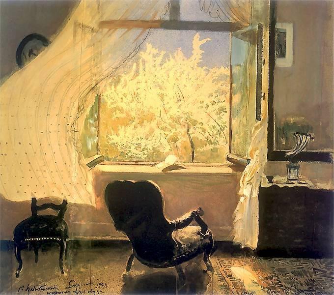 Leon Wyczolkowski - Spring in Goscieradz (1933)