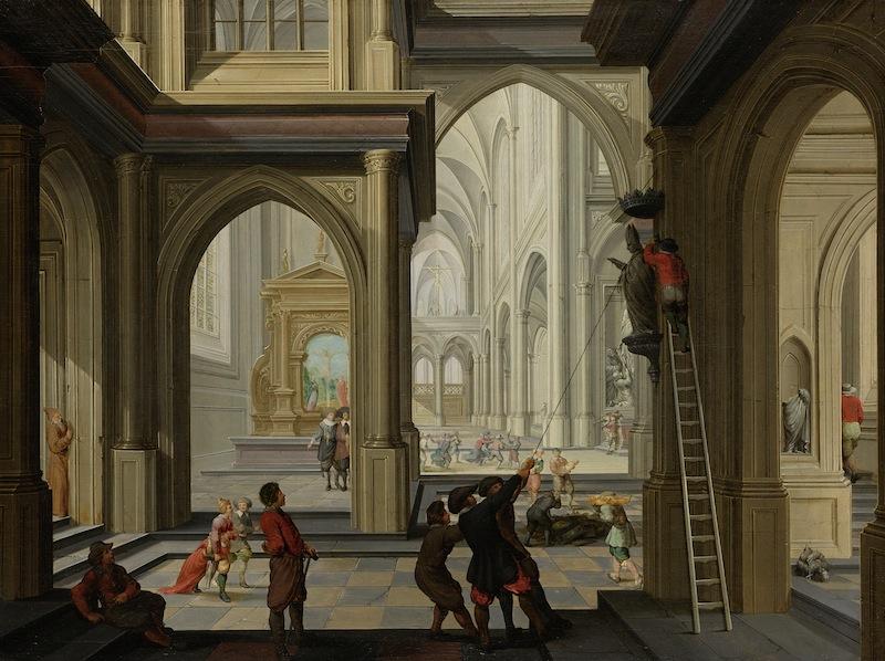 Dirck_van_Delen_-_Beeldenstorm_in_een_kerk-1630