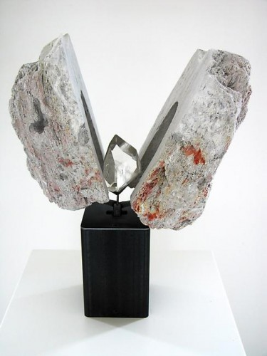"Magic Rock"", 2005 by Rebecca Horn. Special stone from the sea of Aeolian Islands near Napoli, Mountain rock"