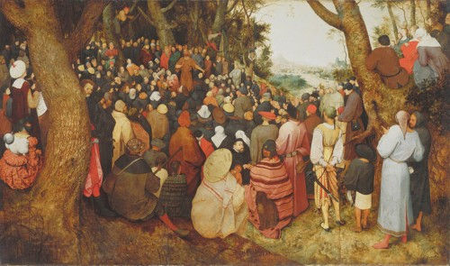 The Preaching of St. John the Baptist by Pieter Bruegel the Elder, in 1565