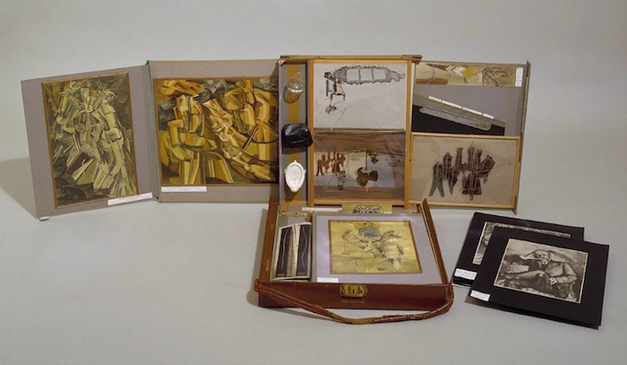 From or by Marcel Duchamp or Rose S?©lavy (The Box in a Valise) circa 1943 by Marcel Duchamp 1887-1968