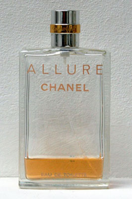LeahCapaldi_Allure_performance, perfume.  I spayed myself with ¾ of a bottle of perfume and travelled around London on public transport.
