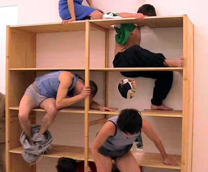 Yael Davids, Cupboard, installation_performance, 1998