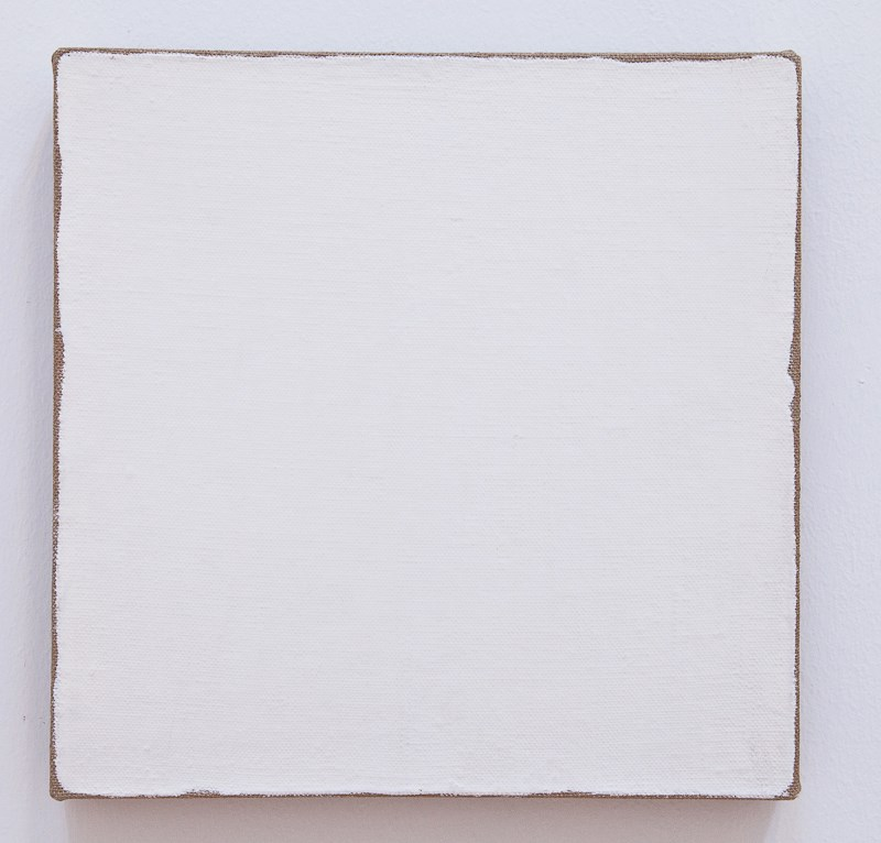 "Robert Ryman, painting ""Untitled"" 1965"
