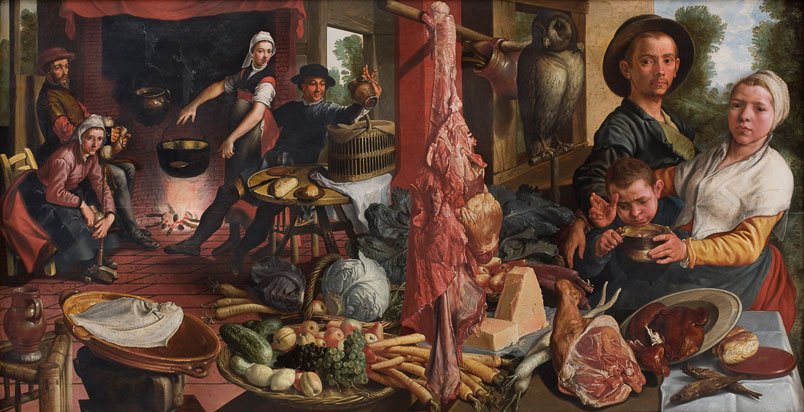 Pieter Aertsen, The Fat Kitchen. An Allegory, National Gallery of Denmark, 1565-1575