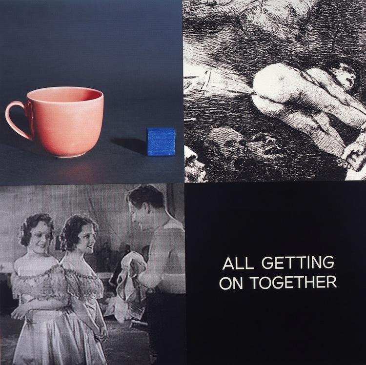 Baldessari-Tetrad Series- All Getting On Together, 1999