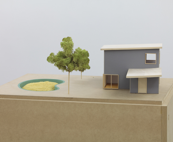 darren-bader_Proposal for Filling a Swimming Pool with Couscous Architectural model with couscous, the potential to make the proposal a reality