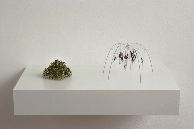 christianeloehr-Zwei kleine Kuppeln two little domes, 2009 plant stalks, grass stalks