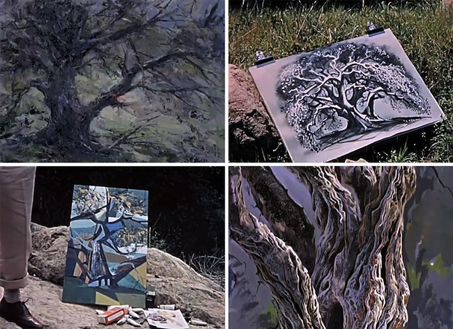 Disney_4-artists-paint-1-tree