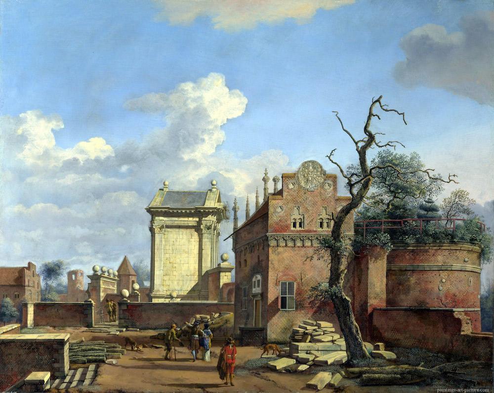 HEYDEN-Jan-van-der-An-Architectural-Fantasy-ca1663