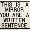 luis_camnitzer-This is a mirror.You are a written sentence-1966