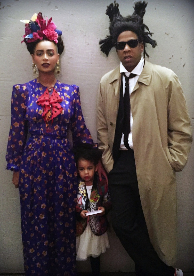 beyonce, z blue ivy kahlo, basquiat and picasso for halloween
