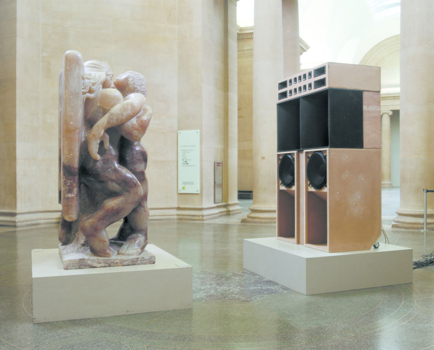 mark_leckey_Big-Box-Statue-Action,-Installation-view,-Tate-Britain-(Tate-Egg-Live-Event),-London-(2003)