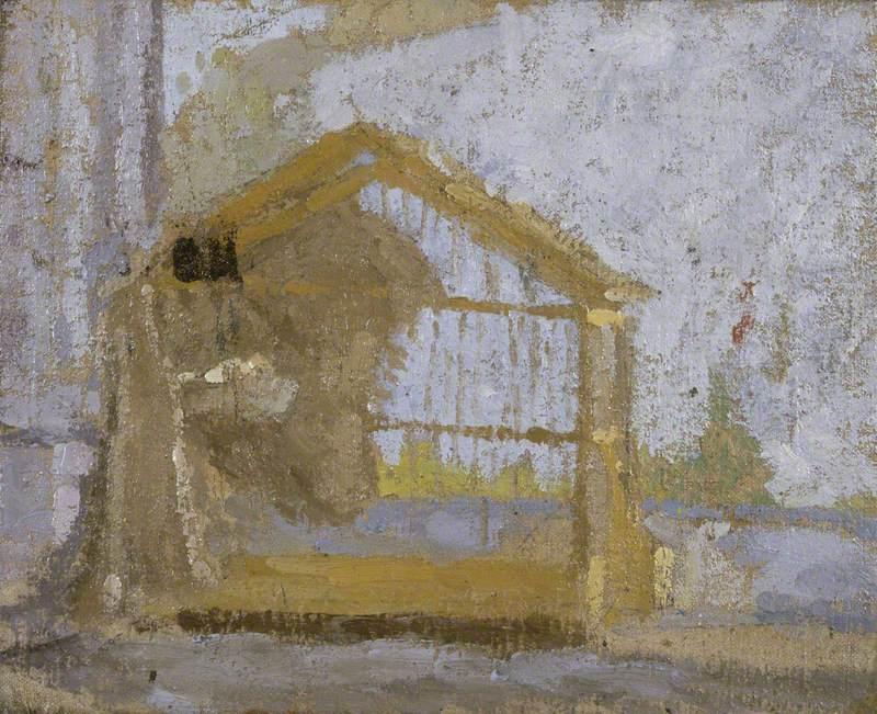 A Birdcage (House in a Landscape)-1920s-Gwen John