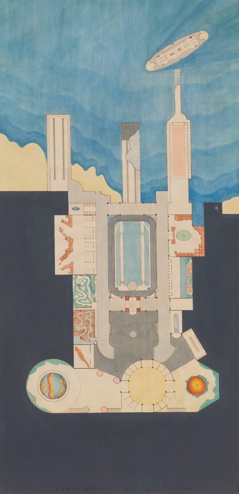 Rem Koolhaas, Drawing of Dreamland, 1977