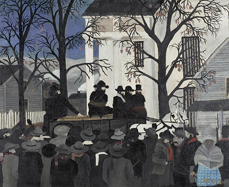 Horace Pippin, John Brown Going to his Hanging, 1942