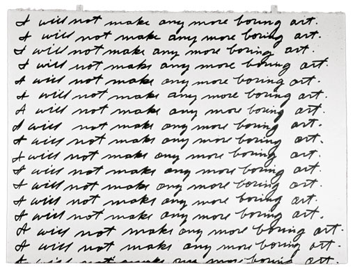 John Baldessari, I Will Not Make Any More Boring Art (1971)