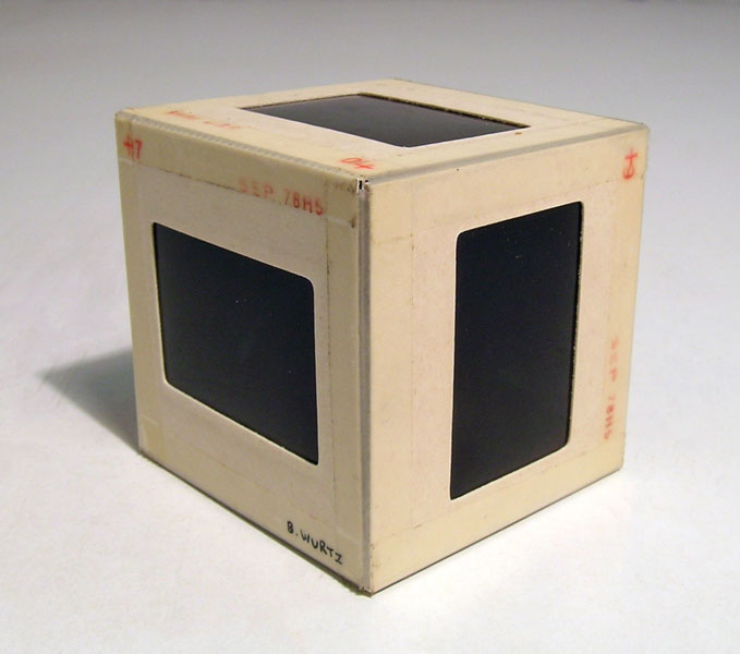 Wurtz_Slide Cube (from series), 35 mm slides, 5 x 5 x 5 cm, 1979