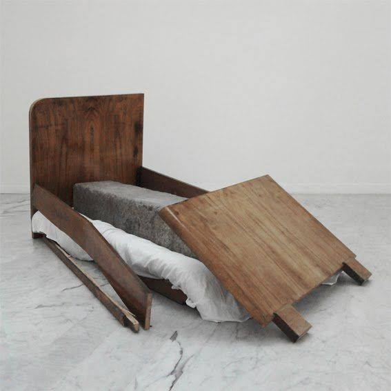 Jimmie Durham, A Stone Asleep In Bed At Home, 2000
